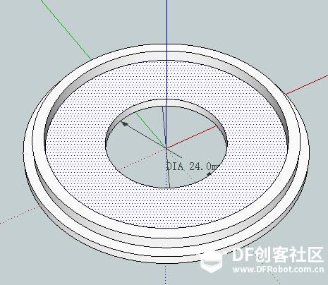 04使用推拉工具以内圈向上拉伸4MM.png